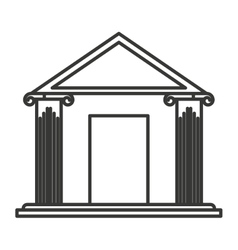 bank building place icon vector image