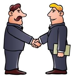 business men shaking hands vector image vector image
