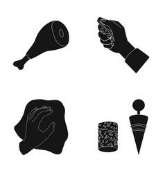 Cleaning food and or web icon in black style vector