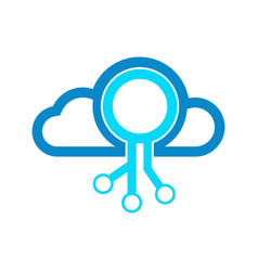 cloud networking modern technology logo graphic vector image