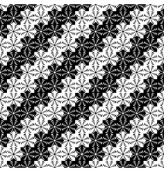 Design seamless monochrome lacy decorative pattern vector image