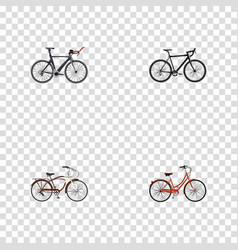 realistic cyclocross drive competition bicycle vector image