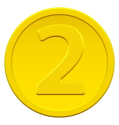 Two coin vector image vector image