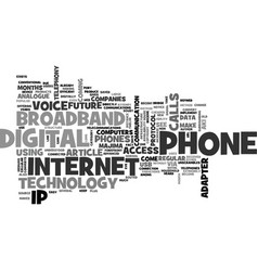what is broadband phone text word cloud concept vector image vector image