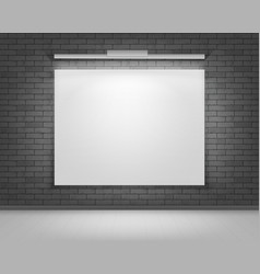 white mock up poster picture frame front view vector image