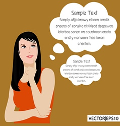 woman think vector image