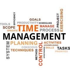 word cloud time management vector image vector image