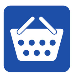 blue white information sign shopping basket icon vector image vector image