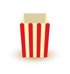 carton bowl empty of popcorn icon vector image
