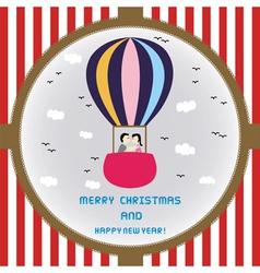 Christmas greeting card52 vector image
