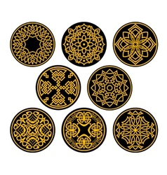 Decorative round intricate patterns vector image