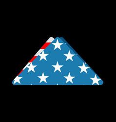folded usa flag symbol of mourning national vector image