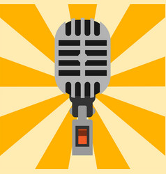 retro microphone type icon journalist vector image vector image