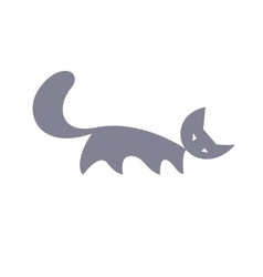 Silhouette of cat vector image