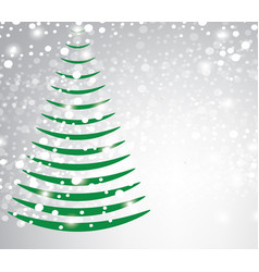 abstract christmas tree on blurred background vector image vector image