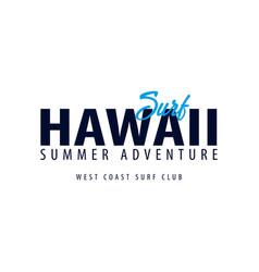 hawaii surfing emblem or logo vector image vector image