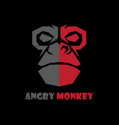 head monkey logo vector image vector image