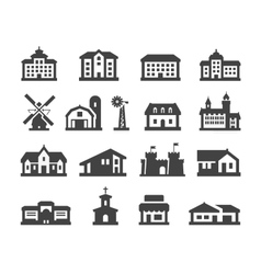 house icons set collection elements hotel real vector image vector image