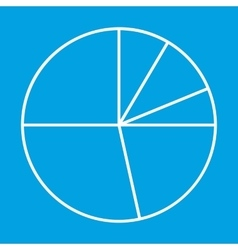 Pie chart thin line icon vector image