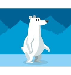 polar habitat related icons image vector image vector image