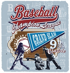 9th inning grandslam baseball vector image vector image