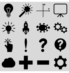 Basic science and knowledge icons vector image