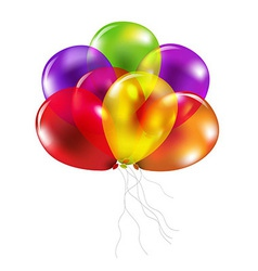 Color Balloons vector image