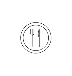 dish service line icon vector image vector image
