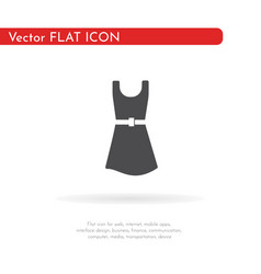 dress icon for web business finance and vector image