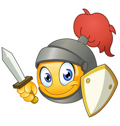 knight emoticon vector image vector image