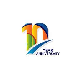 10 years elegant anniversary celebration template vector