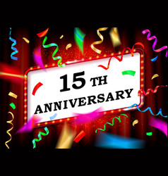 15 years with anniversary vector image