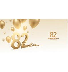 82nd anniversary celebration background vector