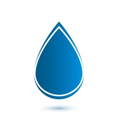 Abstract drop icon vector image