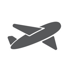Airplane symbol travel icon flat design eps 10 vector