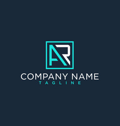 Ar ra initial logo luxury design inspiration vector