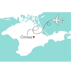Autonomous Republic of Crimea postcard design vector image