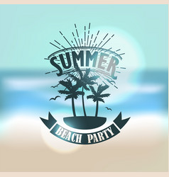 banner for summer beach party vector image