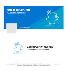 blue business logo template for imagination vector image