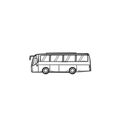 bus hand drawn outline doodle icon vector image