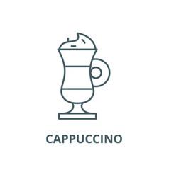 cappuccino line icon linear concept vector image