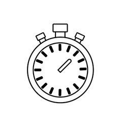 Chronometer time running fitness icon vector