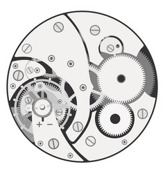 Clock mechanism assembly vector
