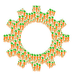 cog collage of carrot icons vector image