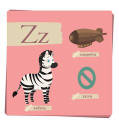 colorful alphabet for kids - letter z vector image