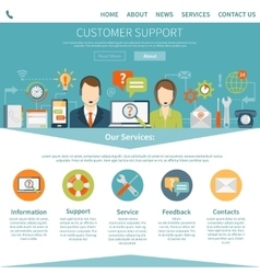 Contact Us Customer Support Page vector
