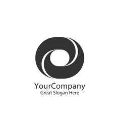 Corporate business finance logo square loop vector