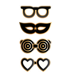 Costume party glasses vector