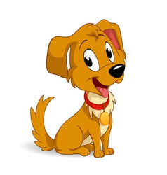 Cute cartoon vector puppy dog vector