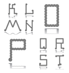 Design abc letters from k to t vector